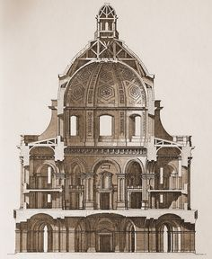 Section of Gibbs's Radcliffe Camera, Oxford