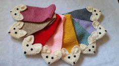 Stretch Toddler/ Kids Adjustable Fox Stripe Scarf Hand Knit
