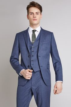 Larger plus size mens suits and formal clothes, up to size 60 chest. Chose from various 2 or 3 piece styles in black, blue or grey with extra long sleeves and wider leg trousers. Slim Fit Suits, Slim Fit Jackets, Light Blue Suit, Blue Texture, Fitted Suit, Jacket Buttons, White Shirts, Blue Fabric, Workout Shirts