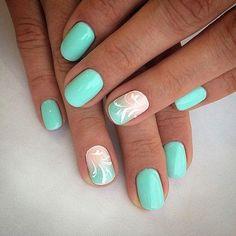 Gradient manicure for a short nails Original nails Pattern nails ring finger nails Round nails Spectacular nails Spring gradient nails Summer gradient nails Nails Gelish, My Nails, Gradient Nails, Best Nail Art Designs, Short Nail Designs, Manicure Colors, Nail Colors, Gel Manicure, Ring Finger Nails