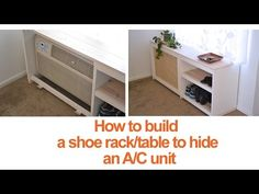 How to build a shoe rack or table to hide an AC unit by Engineer Your Space