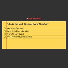 Who is the best Blizzard Game Director? #games #Starcraft #Starcraft2 #SC2 #gamingnews #blizzard