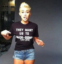 Miley Cyrus! She's gorgeous.