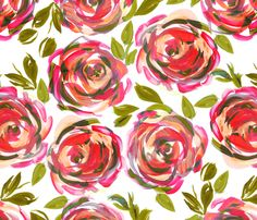 sketchy_rose fabric by lauram on Spoonflower - custom fabric