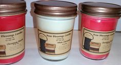 "Black raspberry vanilla type-    A delicious blend of sweetened blackberries and dark raspberries with a hint of vanilla    Top Note – Berry, Citrus   Middle Note – Vanilla  Bottom Note – Berry Musk     Color-dark red/burgundy       Phthalate Free         These 8 oz jar candles are made will natural soy wax, that is derived from soy beans, grown right here in the USA, from American farmers.    PROPERTIES    Diameter	2.75""  Height	3.75""    MADE IN THE USA  **Please don't forget** We always…"