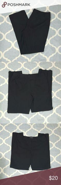 "Ann Taylor Margo Black Dress Pants Wool Sz 12 Ann Taylor women's dress pants. Sz 12. Margo style. Black. Wool blend. Used condition. Length: 41"" Inseam: 31.5"" Rise: 11"" Waist: 18"" B1202 & e Ann Taylor Pants Trousers"