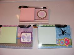 Post It Note Holders made from 4x6 acrylic picture frames