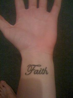 My next one....'faith'...going down inner arm.