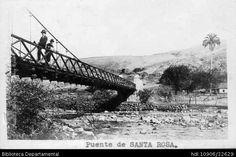 Erich Barth. Puente de Santa Rosa. Cali 1923. SANTIAGO DE CALI: Biblioteca Departamental Jorge Garces Borrero, 1923. 8.5 X 13..