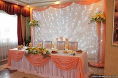 фон за молодыми - Сообщество декораторов текстилем и флористов Wedding Stage Backdrop, Wedding Stage Decorations, Wedding Wall, Sweet 16 Decorations, Table Decorations, Head Table Decor, Backdrops For Parties, Belem, Quinceanera