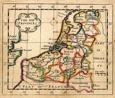 Nederland Zeventien Provincies 1684 Seller Early World Maps, Holland Map, European Map, Hellenistic Period, Classical Antiquity, Old Maps, South Seas, Old Postcards, Historical Maps