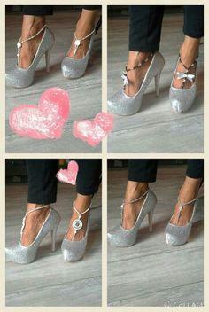 Barefoot sandel with high heels handmade by ByCreaSan