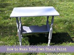 How to Make Your Own Chalk Paint - you can make any color chalk paint you wish with this easy tutorial.
