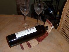 Curved Wine Bottle Holder - Wood