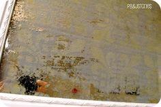 DIY Aged Mirror - PBJstories: Acid Wash Mirror Tutorial
