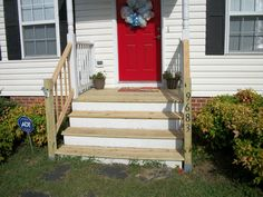 step railings on concrete - Google Search