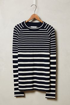mixed stripe pullover / anthropologie