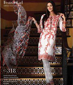 Gul Ahmed La Chiffon Festive collection 2015 C-318