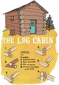 History of Log Cabins    Illustration by Julia Rothman:   http://www.juliarothman.com