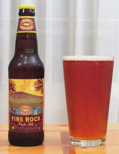 kona fire rock pale ale. Yeast scent. Malt and light hops tones. Ends slightly bitter. Amber-esque meets ipa.