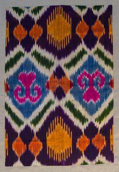 Uzbek Ikat Panel 1900s