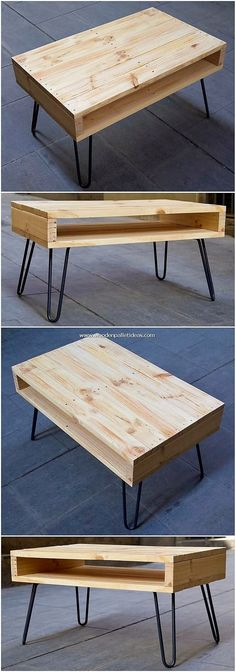 Magnificent DIY Ideas with Recycled Wooden Pallets – Wooden Pallet Ideas Just as in favor of the fantastic expressions of the coffee table decoration, adorning the area with the wood work designing is the. Wooden Pallet Coffee Table, Coffee Table Furniture, Wooden Pallet Furniture, Diy Coffee Table, Decorating Coffee Tables, Wooden Decor, Wooden Pallets, Home Decor Furniture, Wooden Diy