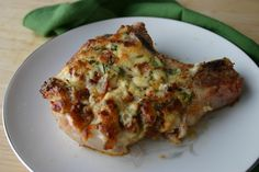 These look like heaven...Bacon-Pepper Jack Pork Chops via Southern Girl's Kitchen.