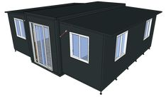 Expandable Container Home with exterior clading