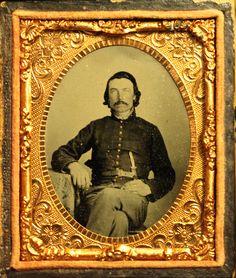 Ninth plate ruby ambrotype of Private William W. Mullenix, Company E, 8th Georgia Infantry Battalion.