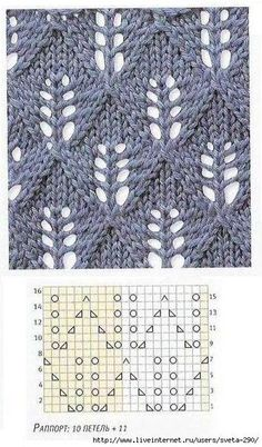 """Ажурные узоры спицами """"Candle Light - lots of lace patterns, not in English but with charts. Now I just need to learn to understand lace knitting charts. Lace Knitting Patterns, Knitting Stiches, Knitting Charts, Lace Patterns, Free Knitting, Crochet Stitches, Stitch Patterns, Knitting Projects, Knitting Tutorials"""
