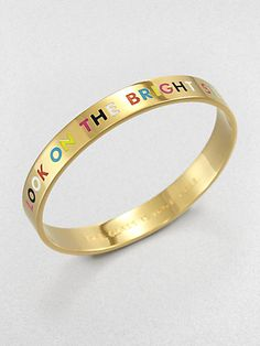 Kate Spade New York - The Glass Is Half Full Bangle Bracelet. Got mine today and it's gorgeous!