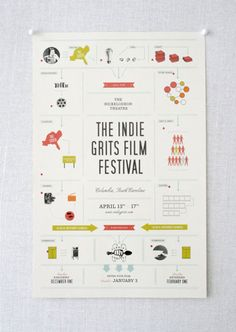 Festival poster by Stitch Design Co.