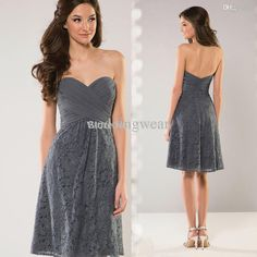 Lively design and undefeatable price make the  wholesale-free shipping grey lace bridesmaid dresses short wedding party dress 2015 sweetheart pleat low back b2300 popular in is weddingwear. Other hot commodities include bridesmaid junior dresses,designer junior bridesmaid dresses along with fashion bridesmaid dress.