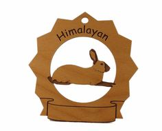 Himalayan Rabbit  Personalized Wood Ornament, #gclasergraphics, #Easter, #PCFTeam,