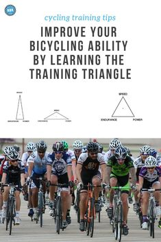 Become a Better Cyclist by Learning About the Training Triangle - Road Bike Rider Cycling Site rides gear jerseys quotes bike cycling cycling Cycling For Beginners, Cycling Tips, Cycling Workout, Road Cycling, Cycling Quotes, Bike Workouts, Swimming Workouts, Swimming Tips, Training Plan