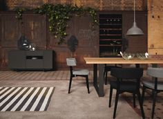 hülsta, high quality designer furniture for your home: from classic designer sideboard in plain white to living room combinations in ultra-modern colour combinations such as high-gloss grey lacquer Dining Table Design, Dining Tables, Play Table, Danish Furniture, Contemporary, Wood, Kitchen, Inspiration, Home Decor