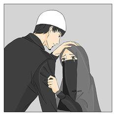 Shared pin anyone Cute Couple Cartoon, Cute Couple Art, Cute Love Cartoons, Cute Muslim Couples, Muslim Girls, Cute Couples, Cartoon Sketches, Cartoon Art, Cartoon Photo