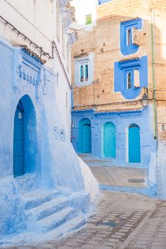 Chefchaouen: The famous blue city of Morocco! Also known as the Blue Pearl. Here's everything you need to know about Chefchaouen. how to get there, where the famous blue streets are, where to stay, and what to do! Morocco Chefchaouen, Marrakech Morocco, Marrakesh, Places Around The World, Travel Around The World, Around The Worlds, Visit Morocco, Morocco Travel, Places To Travel
