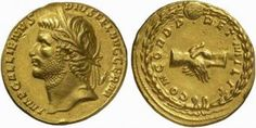 A Unique, Magnificent, and Highly Important Roman Gold Medallion of 8 Aurei of Gallienus C.), One of the Largest Recorded Gold Medallions and of the Highest Importance, Possibly the Finest Recorded Portrait of this Emperor in Any Medium Coin Art, Gold And Silver Coins, Gold Medallion, Roman Emperor, World Coins, Ancient Rome, 24 December, Laurel Wreath, Artemis
