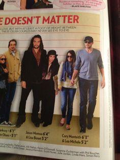 Lea and Cory in people magazine!! #Monchele #LOL