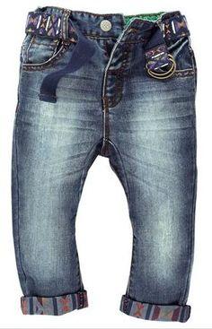 Next Aztec print belt and cuffs jeans