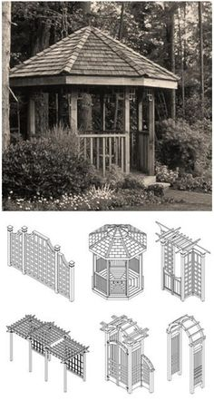 Build a gazebo, pergola, trellises, arbors, screen walls and more with durable Western Red Cedar and free plans from RealCedar.com