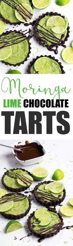 Moringa Lime Chocolate Tarts - UK Health Blog - Nadia's Healthy Kitchen