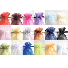 Organza Wedding Favor Bags | #exclusivelyweddings | #royalbluewedding Personalize with a filling for each person's favourite chocolate, or flavour of tea, or other treat.