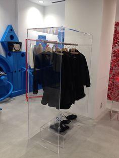 transparent acrylic hanger display DOVER STREET MARKET Ginza