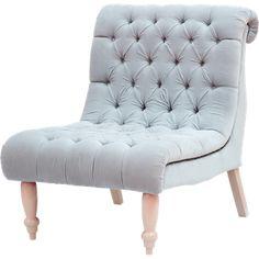 Chair in Soft Grey Velvet