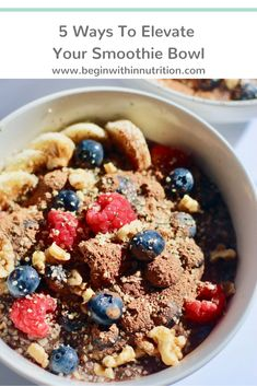 Heart Healthy Recipes, Healthy Breakfast Recipes, Brunch Recipes, Whole Food Recipes, Vegan Recipes, Power Breakfast, Quick And Easy Breakfast, Smoothie Bowl, Recipe Of The Day