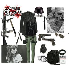 Zombie outbreak set. Be fashionable while staying functional!
