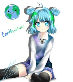 Earth-chan by Neru-kuroshiru