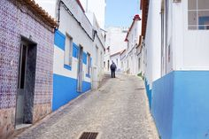 Salema's little main drag, Rua dos Pescadores, hasn't changed over the years., Algarve, Portugal